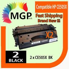 2x HP CE505X 05X LaserJet  P2055 P2055d P2055x P2055dn Toner Cartridge