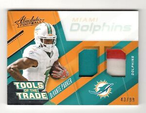 DeVANTE PARKER NFL 2017 ABSOLUTE TOOLS OF THE TRADE DUAL MATERIALS (DOLPHINS)