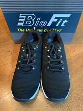 "NIB ORTHOFEET ""Coral"" Black Woven Orthopedic Walking Shoes, Size 8XW, Ex. Cond."