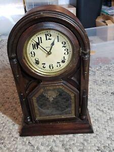 Antique 1920 Ingraham Ionic Style Shelf Clock