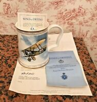 RAF 75th Anniversary Commemorative Tankard, Wings of Destiny. WITH DOCUMENTS