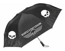 Harley-Davidson Linear Skull 44in. Retractable Umbrella, Black & White UMB119988