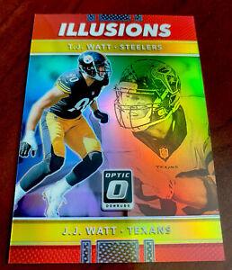 2017 82/99 TJ WATT & JJ Watt Optic Rookie #27 Illusions Prizm Steelers 📈🔥