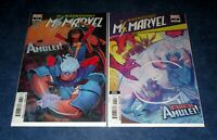 MAGNIFICENT MS MARVEL #13 variant 2nd & 1st print comic 2020 1st app AMULET NM
