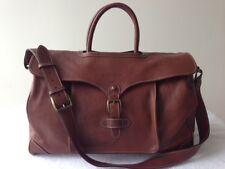 Ralph Lauren Saddle Brown All Leather Travel Bag, Weekend Duffel - Vintage