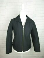 Chico's women's size 0 Small Black Quilted Zip Up Light Weight Jacket