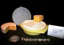 Tupperware pastel YELLOW Grater Bowl ~Slicer Shredder Large, Medium, Fine Grate