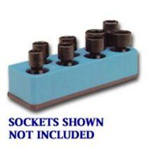 Mechanics Time Saver 880 3/8 in. Dr Univ Neon Blue 8 Hole Impact Socket Holder