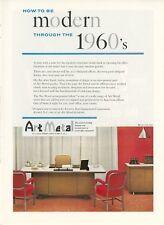 1959 Art Metal Office Furniture Ad Mid Century Modern Eames Era Desk Chairs