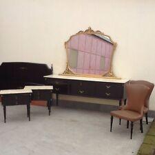 camera da letto anni 50 legno di palissandro