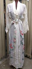 Vintage Post-War 40s Silk Peignoir Dressing Gown, Kimono Robe Handpainted Dragon