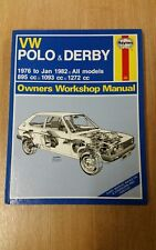 VW POLO & DERBY 1976-1982 HAYNES WORKSHOP MANUAL 335 VGC FOR ITS AGE FREE P&P