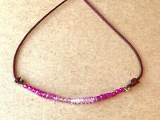 ruby sapphire topaz gemstone bracelet real pink gems stack layer beads 18k gold