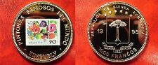 1995 Equatorial Guinea Large Proof 1000 Fr Tinguely-Painting-flowers