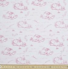 NEW Fabric Winnie the Pooh Bear Pink Piglet Cotton Fat Quarter Quilting Material