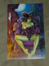 2019 C2E2 OZ - SEXY WICKED WITCH ART PRINT #1 BY ELIAS CHATZOUDIS SIGNED 11x17