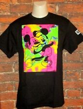 MENS NEFF DISNEY COLLECTION MICKEY MOUSE BLACK T-SHIRT SIZE L