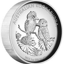 2013 Australian Kookaburra 1oz Silver Proof High Relief Coin, Perth Mint