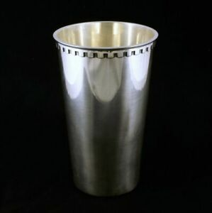 Georg Jensen. Large Sterling Silver Vase - Bernadotte #1218