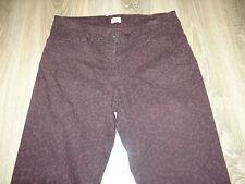 Mujeres Pantalones F&F Púrpura Estampado de Leopardo/Skinny Jeans/Ajustado Pantalones Talla 8