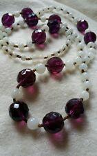 Flapper Ameythest Glass Beads.
