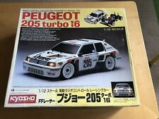 Kyosho Peugeot 205 Turbo 16 FF 1:12 RC CAR RALLY Boxed Near Complete