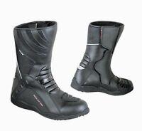 Stivali Stivaletti Moto Impermeabile Pelle Turismo Alta Visibilita' WaterProof