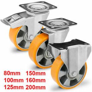 Transportrollen Schwerlastrollen Lenkrollen Bremse 100 125 160 200 mm 600-1500kg