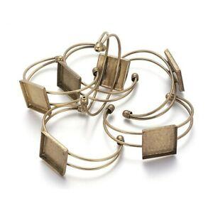 bracelet support cabochon 25x25 mm bronze