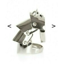 Rare BRAND NEW Vivienne Westwood .925 Sterling Silver Knuckle Armour Ring Size M