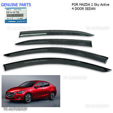Black Rain Visor Weather Guards Mazda 2 4 Door Sedan 2015 2016 Genuine OEM