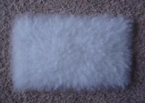 1:12 scale White Fur Rug for dolls house (very realistic)