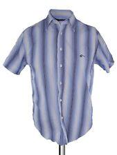 blooker camicia uomo righe blu classic fit manica corta taglia m medium
