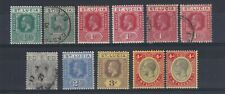 ST LUCIA 1912-21 GV MULTIPLE CROWN CA WMK GROUP MINT AND USED