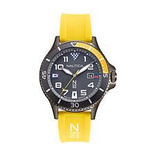 Nautica Men's Cocoa Beach NAPCBF915 Yellow Silicone Quartz Fashion Watch