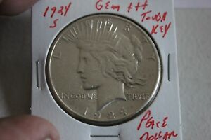 1924-S   KEY   GEM+++  PEACE DOLLAR