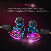 KZ-ZST Dynamic Hybrid Dual Driver Earphone HIFI Bass Headset In-ear Earbuds Set