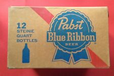 Vintage 1950's 60's Pabst Blue Ribbon Beer PBR Crate Box Carton Case Nice Shape