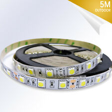Cold White 5M 300 SMD 5050 Flexible None -Waterproof LED Strip Light 12V DC