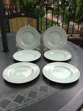 6 LIGHT GREEN WOODS WARE BERYL TEA SIDE PLATES 17 CMS WW2 POTTERY