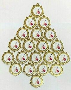 20 X Gold Metal Cricket Medals + Ribbons