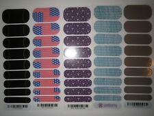 Jamberry Gold Streak Star Spangled Strobe Light Teal Zeal Urban Lights 1/2 Half