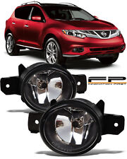 For 2015-2017 Nissan Murano Front Replacement Fog Lights Housing Clear Lens Pair