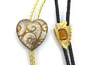 Vintage Bolo Ties Set of 2 Heart & Arrowhead