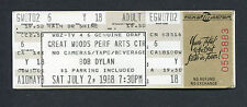 Bob Dylan The Alarm 1988 Unused Concert Ticket Down In The Groove Mansfield MA