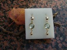 585 goldfilled-Ohrringe mit grünem Amethyst