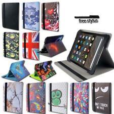 """Para Amazon Kindle Fire 7"""" HD8 Tablet-Smart Cuero Estuche con Funda y base giratoria"""