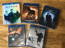 Lot Of 5 Blu-Ray Action Movies: Matrix; Batman Begins; Dark Knight + Two More