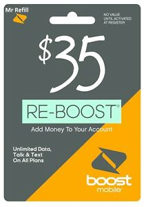 Boost Mobile $35 Refill
