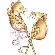 Harvest Mice Clear Unmounted Rubber Stamp Wild Rose Studio # CL493 New
